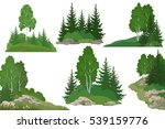 set landscapes  isolated on... | Shutterstock .eps vector #539159776