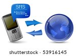 send and receive sms messages.... | Shutterstock .eps vector #53916145