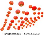 red chinese lanterns isolated...   Shutterstock . vector #539166610