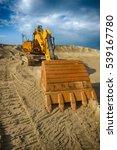 yellow excavator on a... | Shutterstock . vector #539167780