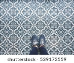 selfie of feet with sneaker... | Shutterstock . vector #539172559
