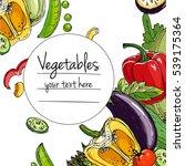 vegetables. fresh food.... | Shutterstock .eps vector #539175364