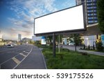 billboard canvas mockup in city ...