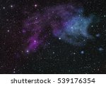 far being shone nebula and star ... | Shutterstock . vector #539176354