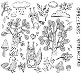 hand drawn vector natural set... | Shutterstock .eps vector #539177860