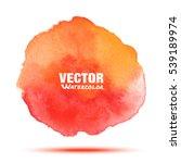 bright red   orange transparent ... | Shutterstock .eps vector #539189974