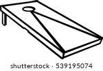 cornhole game | Shutterstock .eps vector #539195074