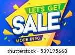 let's get sale for mobile app... | Shutterstock .eps vector #539195668