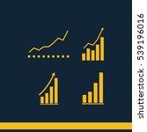 set of growing graphs vector... | Shutterstock .eps vector #539196016
