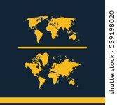 global world maps vector icon. | Shutterstock .eps vector #539198020