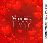 valentine's background with 3d...   Shutterstock .eps vector #539198140