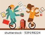 multitasking | Shutterstock .eps vector #539198224