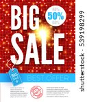 sale poster template. colorful... | Shutterstock .eps vector #539198299