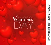 valentine's background with 3d...   Shutterstock .eps vector #539198329