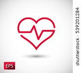 heartbeat  linear icon. one of... | Shutterstock .eps vector #539201284