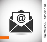 mail icon  | Shutterstock .eps vector #539201443