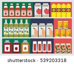 shelves with products in the... | Shutterstock .eps vector #539203318