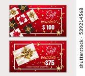 voucher  gift certificate ... | Shutterstock .eps vector #539214568