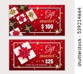 voucher  gift certificate ... | Shutterstock .eps vector #539214664
