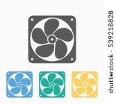 exhaust fan icon | Shutterstock .eps vector #539218828