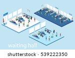 isometric flat 3d concept... | Shutterstock . vector #539222350