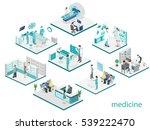 isometric flat interior of... | Shutterstock . vector #539222470