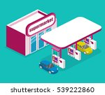 isometric flat 3d concept... | Shutterstock . vector #539222860
