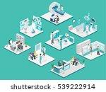 isometric flat interior of... | Shutterstock . vector #539222914