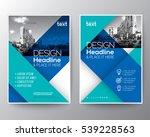 blue diagonal line brochure... | Shutterstock .eps vector #539228563