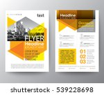 abstract yellow geometric... | Shutterstock .eps vector #539228698
