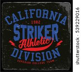 vintage varsity graphics and... | Shutterstock .eps vector #539229016