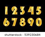gold 3d metallic numbers set.... | Shutterstock .eps vector #539230684