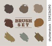 brush set texture   Shutterstock .eps vector #539236390