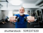 senior man in gym working out... | Shutterstock . vector #539237320
