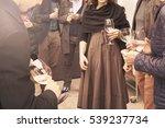 people is drinking wine... | Shutterstock . vector #539237734