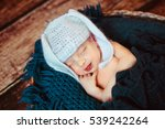 the small baby sleeping in... | Shutterstock . vector #539242264