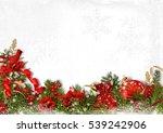 christmas card with fir... | Shutterstock . vector #539242906