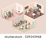 isometric interior of sweet... | Shutterstock . vector #539243968