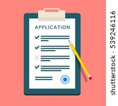 vector application form.... | Shutterstock .eps vector #539246116