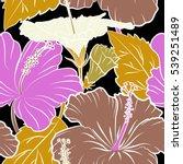 bright hawaiian design with...   Shutterstock .eps vector #539251489