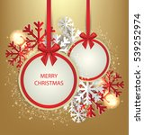 christmas greeting card. vector ... | Shutterstock .eps vector #539252974