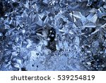 texture ice crystals blue cold... | Shutterstock . vector #539254819