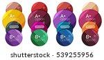 set of round option diagram... | Shutterstock .eps vector #539255956