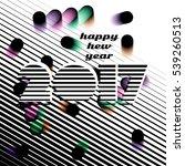creative christmas card. vector ... | Shutterstock .eps vector #539260513