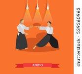 vector poster of martial arts.... | Shutterstock .eps vector #539260963
