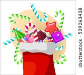 christmas sweets  lollipops and ... | Shutterstock .eps vector #539263438