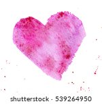 Hand Painted Pink Watercolor...