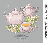 jasmine tea vector illustration | Shutterstock .eps vector #539269300
