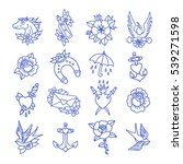 doodle icon. traditional tattoo ... | Shutterstock .eps vector #539271598