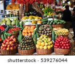 fresh exotic fruits on famous... | Shutterstock . vector #539276044